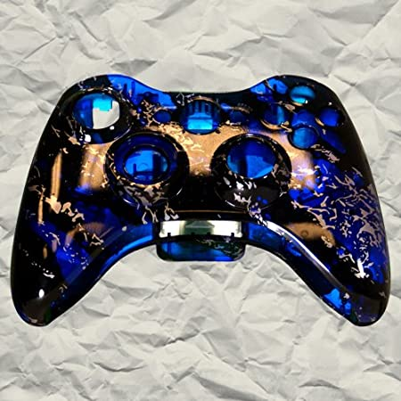 Clear Blue Marble XBOX 360 Controller Shell | Controller Mod