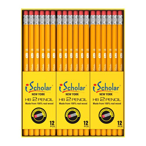 Ischolar Gross Pack Pencils 2 Yellow Box Of 144 33144