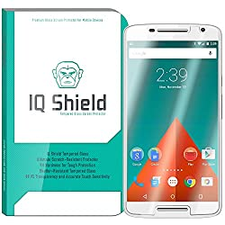 IQ Shield Tempered Glass - Motorola Moto X Play Glass Screen Protector (Ballistic Glass + Warranty Replacements) - 99.9% Transparent HD Shield / 9H Hardness / Shatter-Proof + Bubble-Free