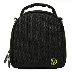 VanGoddy Laurel DSLR Camera Carrying Bag with Removable Shoulder Strap for Sony Alpha DSLR-A450 Digital SLR Camera (Neon Green)