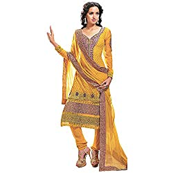 Fabtantra Women's Georgette Straight Suit Dress Material