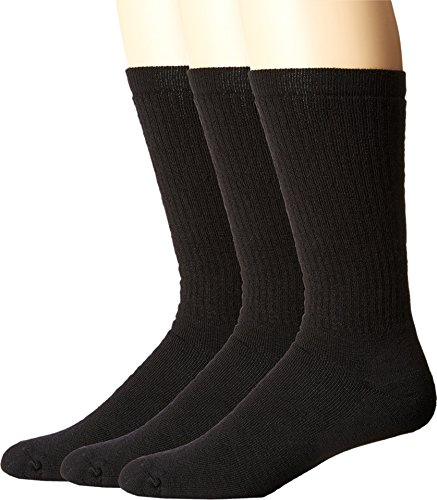 Smartwool Men's Heavy Heathered Rib 3-Pack Black Socks XL (Men's Shoe 12-14.5)