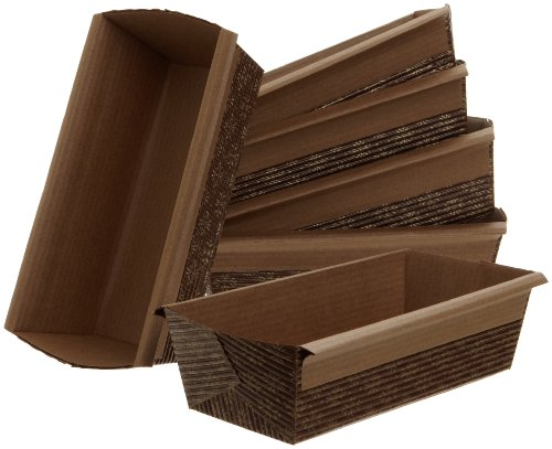 Kitchen Supply Paper Loaf Pan, 6-Inch x 2.5-Inch x 2-Inch, Set of 6