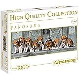 Clementoni - Puzzle de 1000 piezas, High Quality Panorama, diseño Beagles (390762)