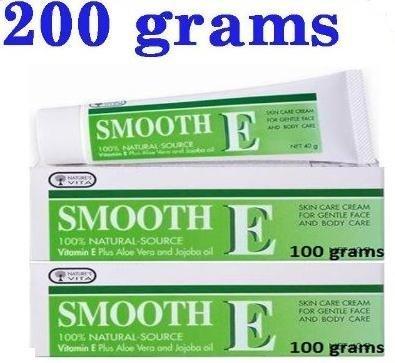 2X100G Smooth E Cream Anti Aging Wrinkles Vitamin E Aloe Vera Scars Acne Spot Mark