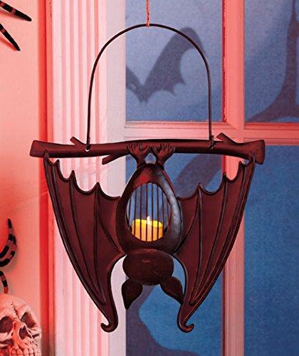 Bat Shaped Metal Hanging Lanterns