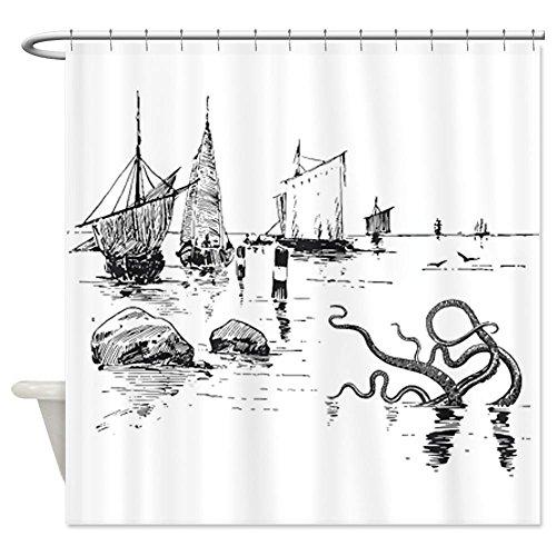 [NEW] 2019 Kraken Shower Curtain -Squid Octopus Sea Monster cover image