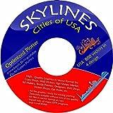 Software - Vektoren CD / DVD 4 - ca. 280 Skylines St�dte USA in 4 Design ca. 1100 Vektoren f�r Wandtattoos, Aufkleber, Textildruck