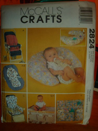 Mccall'S Sewing Pattern 2824 Craft Baby Covers And Organizers front-85114