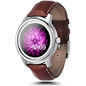 Megadream Bluetooth 4.0 HD IPS Screen Smart Watch With Heart Rate Monitor Pedometer Voice Control Anti-lost Step...