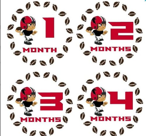 Monthly Stickers Monthly Baby Boy Sport Stickers Atlanta Falcons Football Sports Monthly Stickers Waterproof Baby Shower Gift at Amazon.com