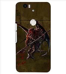 PrintDhaba EVIL BAT D-6534 Back Case Cover for HUAWEI NEXUS 6P (Multi-Coloured)