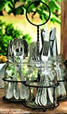 glass flatware caddy jars