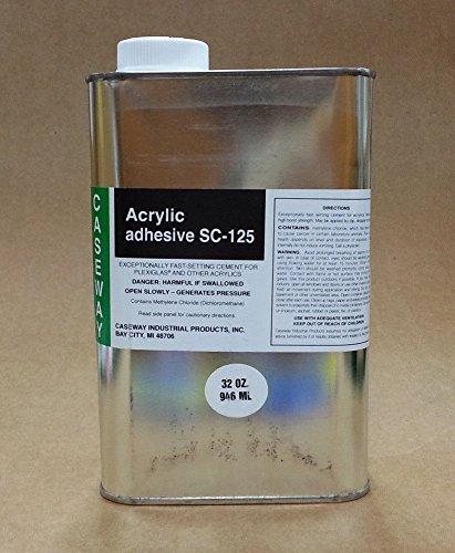 [해외]seway SC-125 아크릴 플렉시 유리 접착 용제 시멘트 - 1 쿼트 (32 오즈.)/Caseway SC-125 Acrylic   Plexiglass Adhesive Solvent Cement - 1 Quart (
