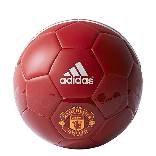 English Premiership Manchester United Soccer Ball, Size 5, Power Red/Real Red/White