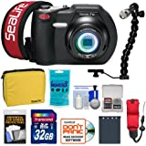 SeaLife DC1400 14MP HD Underwater Digital Camera with 32GB Card + Case + Battery & Charger + LED Torch & Arm Bracket + Accessory Kit