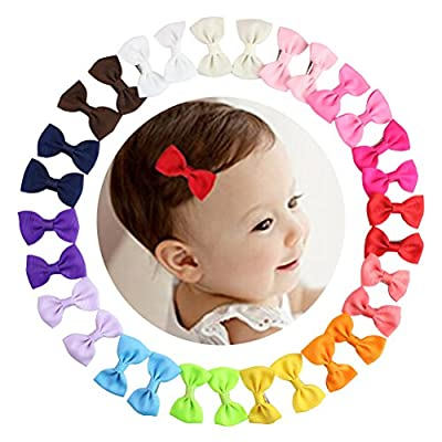 2'' Small Baby Girls Hair Bows Alligator Clips for Toddlers Kids 15 Pairs Barrettes