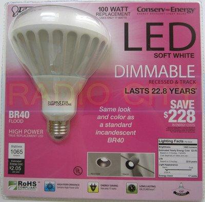 br40 led 17 watt flood light bulb 100 watt equivalent replacement. Black Bedroom Furniture Sets. Home Design Ideas