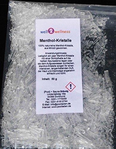 Mentholkristalle intensiv 50 g Beutel aus Minzöl