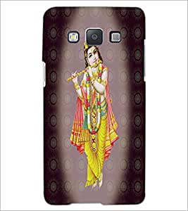 PrintDhaba Lord Krishna D-4736 Back Case Cover for SAMSUNG GALAXY A5 (Multi-Coloured)