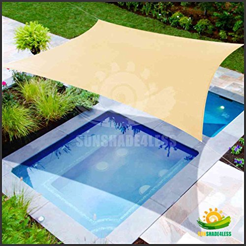 12' x 16' Sun Shade Sail Uv Top Outdoor Canopy Patio Lawn Rectangle Beige,tan, Desert Sand (Custom Size Available)