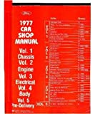 1977 MERCURY CAPRI COMET COUGAR etc Service Manual Book