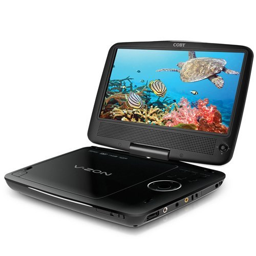 Coby TFDVD9109 9-Inch Widescreen TFT Portable DVD/CD/MP3 Player (Black)