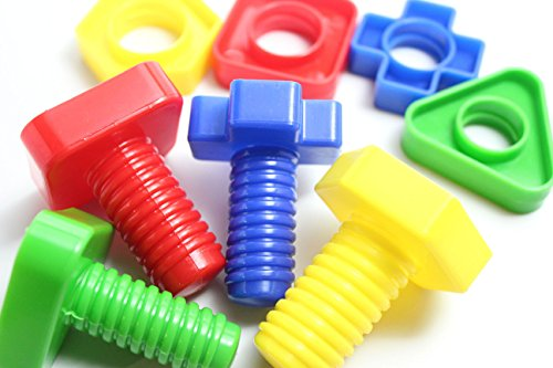 Large Nuts And Bolts : Large plastic nuts and bolts set of matching