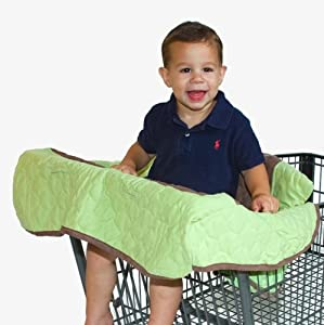 Nursery-To-Go Grocery Cart/High Chair Cover, Green at Sears.com