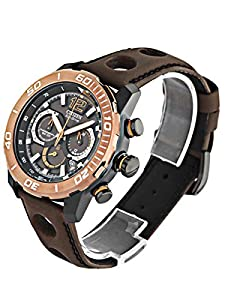 Citizen Watch Primo Stingray Men's Quartz Watch with Black Dial Analogue Display and Brown Leather Strap CA4088-00E
