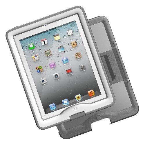 日本正規代理店品・保証付LIFEPROOF iPad2/3/4用防水防塵耐衝撃ケース LifeProof nuud for iPad+coverstand ホワイト 1103-'02