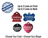 Pet ID Tags | 8 Shapes & Colors to Choose From | Dog Cat Aluminum