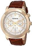 Geneva Men's 2417F-GEN Analog Display Analog Quartz Brown Watch