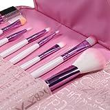 Lychee Beauté 8 Pinceaux de Maquillages Pro pour femme kit d'Accessoires Cosmétiques avec Trousse gratuite (Rose)