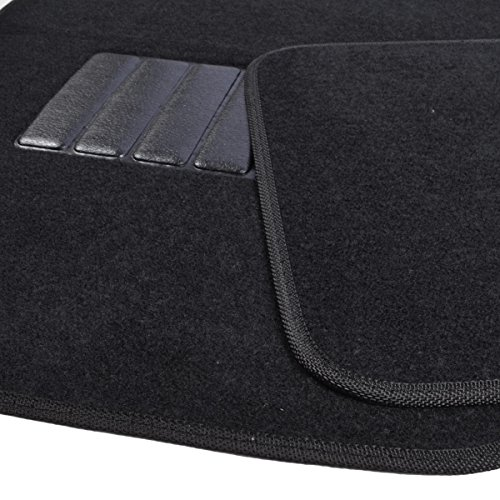 bdk 4pc premium carpet floor mats universal fit for car truck suv van front rear in solid. Black Bedroom Furniture Sets. Home Design Ideas