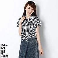 イング(INGNI) シャツ(前結びロゴ刺繍半袖シャツ)
