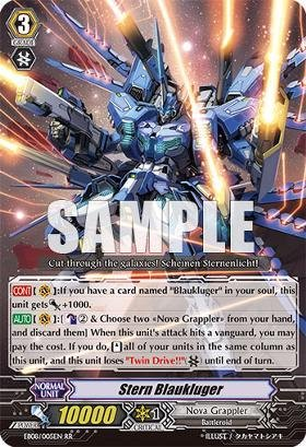 Cardfight!! Vanguard Tcg - Stern Blaukluger (Eb08/005) - Extra Booster Pack 8: Champions Of The Cosmos front-1058429