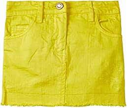 Cherokee Girls Skirt (253310824_Yellow_7 Years)