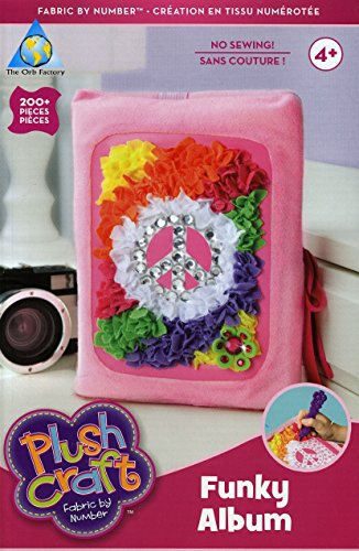 Plush Craft - Fabric By Number Kit - Funky Album - 200+ Pc