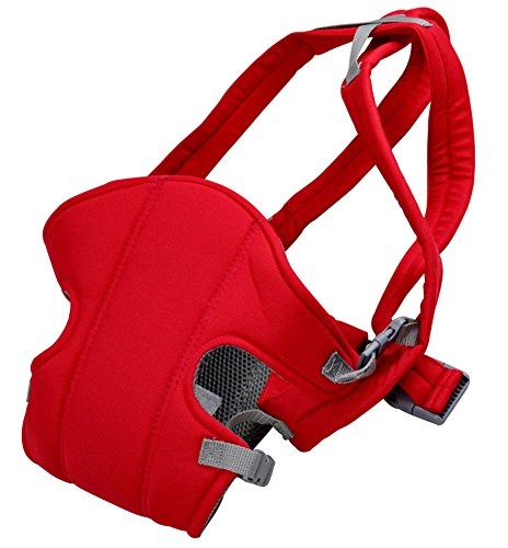 Qandsweet Infant Toddler Baby Wearing Stretchy Foam Padded Classic Baby Carrier Red front-27913
