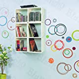 Colorful Circle 2 - X-Large Wall Decals Stickers Appliques Home Decor