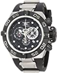 Invicta Men's 6564 Subaqua Noma IV Chronograph Black Dial Black Polyurethane Watch from Invicta