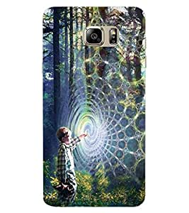ColourCraft Spider Web Design Back Case Cover for SAMSUNG GALAXY NOTE 7 DUOS
