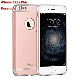 iPhone 6/6s Plus Cases,I3C Ultra Thin Hybrid [3 in 1 Shield Series] Shockproof Slim Impact Premium Rose Gold Case Cover for Apple iPhone 6 Plus Case,iPhone 6S Plus Cases