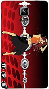 Timpax Protective Hard Back Case Cover With access to all controls and ports Printed Design : A girl dancing with me.Precisely Design For : Samsung Galaxy Note 4 ( SM-910U )