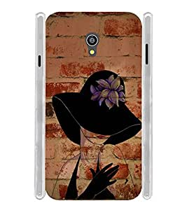 Artistic Girl Soft Silicon Rubberized Back Case Cover for Micromax Canvas Fire 4G Q411