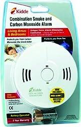 White Kidde Combination Smoke Alarm & Carbon Monoxide Detector 9000122 (Kidde, ) Battery powered from Kidde
