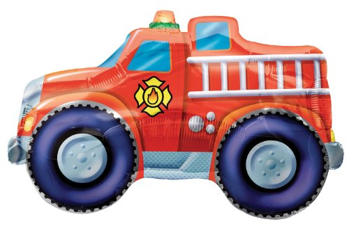 Party Destination 161271 Fire Truck 33 in. Jumbo Foil Balloon