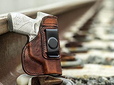 OUTBAGS LOB2S-CZ75C Brown Genuine Leather IWB Conceal Carry Gun Holster for CZ-USA CS75 Compact 9mm. Handcrafted in USA.