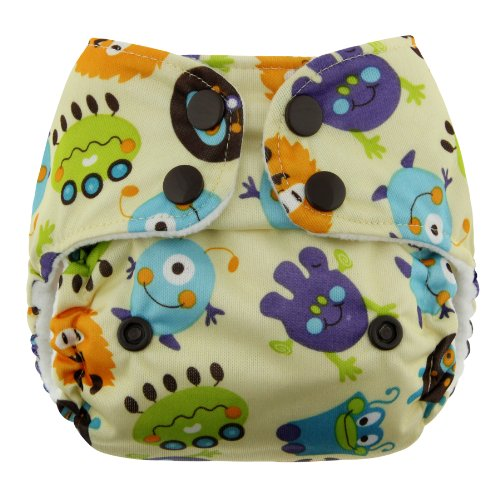 Blueberry Mini Deluxe Pocket Diapers, Monsters